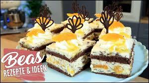 schokoladen mandarinen schnittchen rezept lecker backen mit mascarpone sahne creme