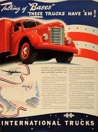 1941 Ad International Harvester Trucks WWII Army Navy Air Force War ...