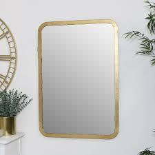 rustikal dünn gerahmt gold spiegel wandmontage wohndeko