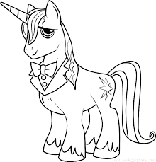 Twilight My Little Pony Coloring Page Free Printable Pages
