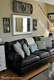 Black And Brown Couch Living Room Above Decor Sofa Wall Ideas