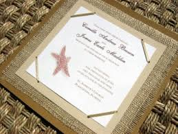 Rustic Beach Wedding Invitations Starfish