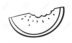 Illustration A Watermelon Slice Sketch A White Background