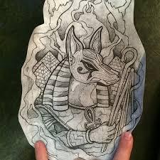 Anubis Tattoo Art Design Sample