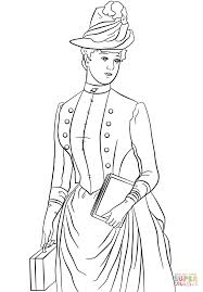 Click The Victorian Lady Coloring Pages