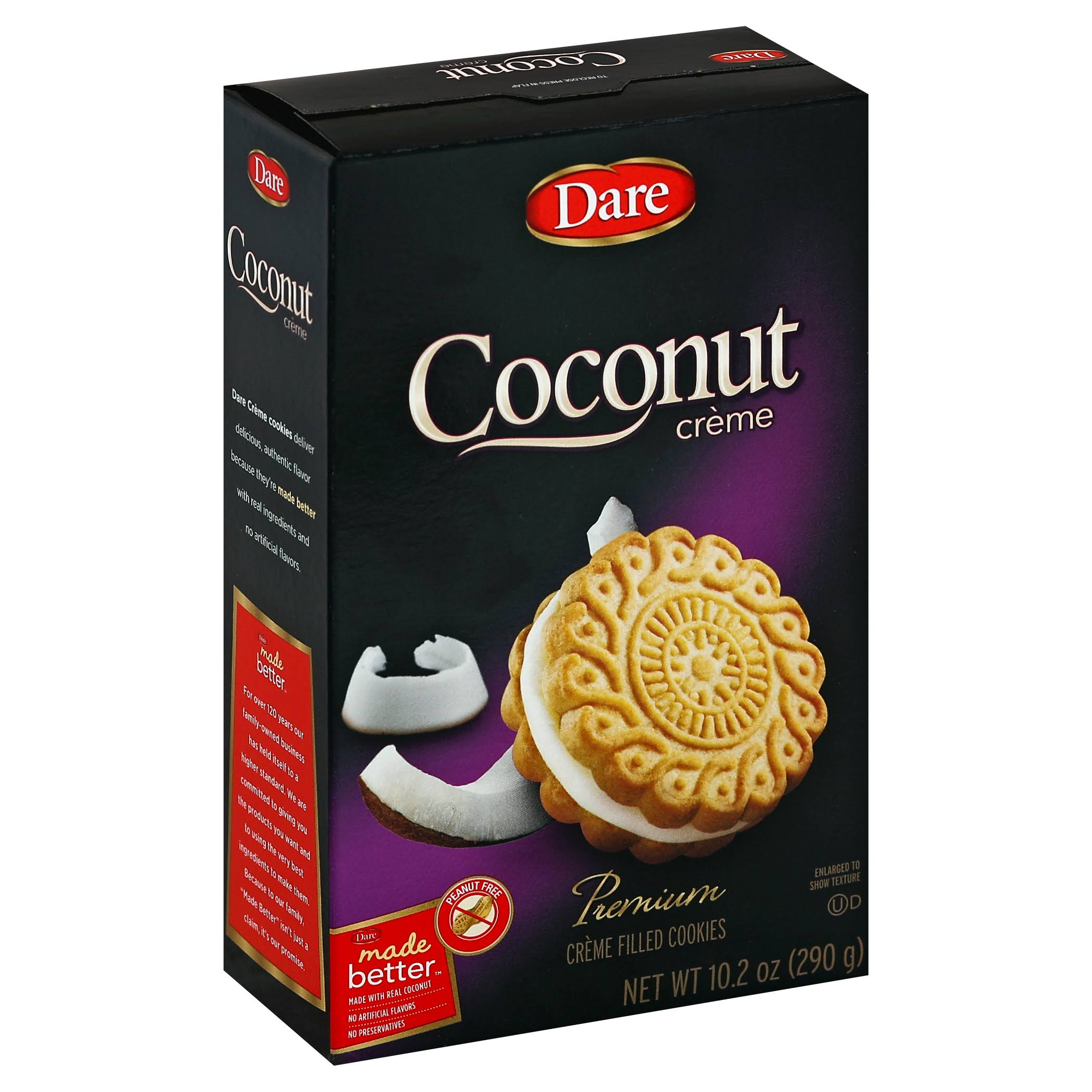Dare Cookies, Creme Filled, Coconut Creme - 10.2 oz