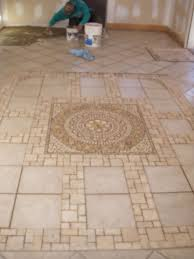 this is a heated tile floor in a sun room i laied this