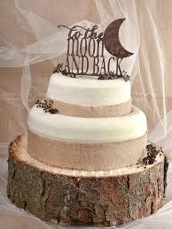 Rustic Cake Topper Wood Monogram To The Moon And Back Wedding Love