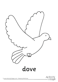 Dove Coloring Page Cameron Pages