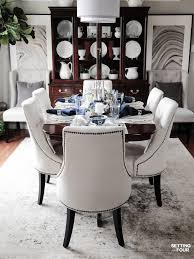 Elegant Fall Table Settings With A Blue And White Palette - Setting ... Sofia Imaestri Marseille Transitional Upholstered Seat And Back Ding Side Chair By Steve Silver At Wayside Fniture Shollyn Uph 4cn Colette Velvet Violet Grey Silver Ding Room Hollywood Homes Elegant Exquisite Workmanship Series Room Round Tabelegant Table And Chairsbf0104009 Buy Setantique 25 Gray Ideas Bella 5piece Kitchen Set Silverlight Grey Chairs New Fascating Black Sets Vergara Paris 5 Pc 1958 Glam Elegance Del Sol Home Bevelle 18 Inch Leaf