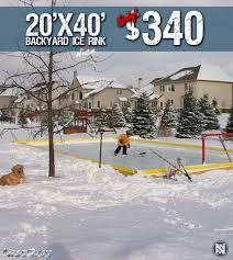 NiceRink 20' X 40' Retail Kit-Wholesale Only (SHIPPING TO CANADA ...