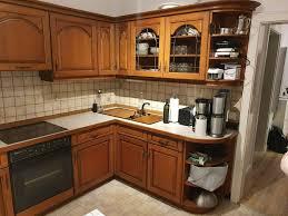 einbauküche l form winkelküche e geräte holz braun gebraucht