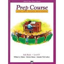 Solo Bk Level D Alfred Prep Course