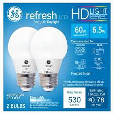 refresh daylight hd 60watt equivalent a15 ceiling fan bulb