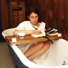 Teak Bathtub Tray Caddy by Wood Bathtub Home Decor