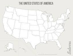 Blank Printable US States Map Pdf