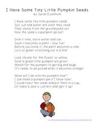 Life Cycle Of A Pumpkin Seed Worksheet by Pumpkin Life Cycle Poem Freebie I Have Some Tiny Little Pumpkin
