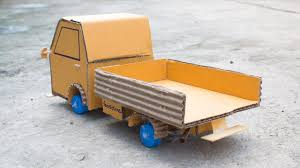 How To Make A Toy Truck Out Of Cardboard Easy At Home (Cargo Truck ...
