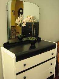 Waterfall Vanity Dresser Set by European Paint Finishes Black U0026 White Waterfall Dresser W Mirror