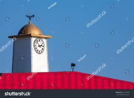 Weathervanes For Sheds Uk by Vibrant Seaside Pier Clock Tower Weathervane Stock Photo 661415209