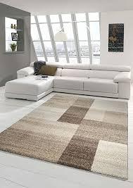 designer teppich moderner teppich wohnzimmer teppich kurzflor teppich barock design meliert braun beige größe 200 x 290 cm