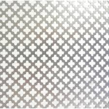 M D Building Products 36 in x 36 in Cloverleaf Aluminum Sheet