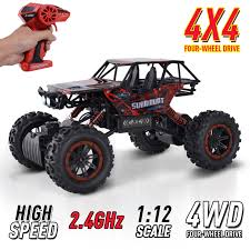 1:12 Scale 2.4Ghz 4WD RC Rock Crawler Off-Road Electric Monster ... Helion Conquest 10mt Xb 110 Rtr 2wd Electric Monster Truck Wltoys 12402 Rc 112 Scale 24g 4wd High Tra770864_red Xmaxx Brushless Electric Monster Truck With Tqi Hsp 94111pro Car Brushless Off Road 120 Speed Remote Control Cars 24g Rc Redcat Blaoutxteredtruck Traxxas Erevo Vxl 20 4wd Orange Team Associated Mt28 128 Mini Unbeatabsale Racing Blackoutxteprosilversuv Blackout Shop Terremoto 18 By