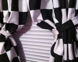 black and white checkered curtains curtains wall decor