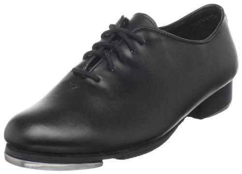 Dance Class Black Leather-Like Upper Lace Up Jazz Tap Oxford Shoes 7