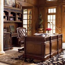 Image Of Elegant Rustic Executive Desk