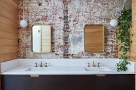 carriage house by workstead brick bathroom carriage house