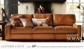 Pottery Barn Turner Sofa Look Alike by Leather Sofa Sets U0026 Tufted Leather Sofas Pottery Barn No Place