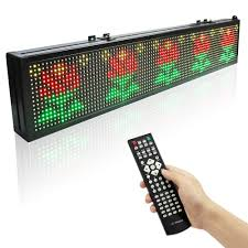 125m Remote Control Led Display Indoor Programmable Scrolling Message Sign Board For Business And Store Full Color In LED Displays From