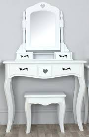White Makeup Desk With Lights by Small Makeup Table Lights Vanity Lighted Mirror Mirrored Dresser