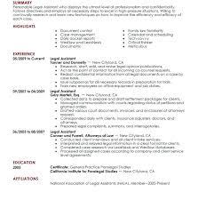 Legal Secretary Resume Objective Examples Sample
