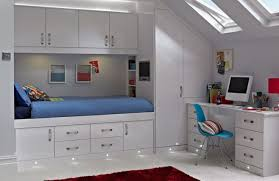 Inspiration Ideas Design Teen Girl Bedroom Decorating Small Space Loft Bunk Blue Bed With Cabinet And