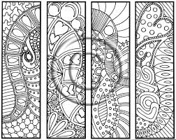 Coloring Page Hand Drawn Hearts Are Trump Bookmarks Hippie