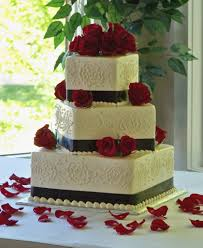 Designs Red Black White Wedding Cake Wedding Stuff Pinterest