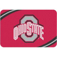 Round Red Bathroom Rug by Ncaa Ohio State Buckeyes 20
