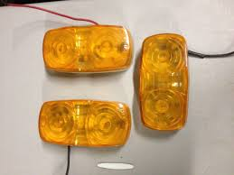 100 Truck Marker Lights Pair 196872 Chevy Amber LED Side Turn