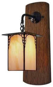 craftsman mission style wall sconce hallway entryway light