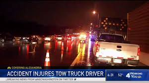 Tow Truck Driver Loses Leg After Car Hits Him On I-395 - NBC4 Washington Tow Truck Driver With His Rig Stock Vector Illustration Of Truck Service By Towing Service Near Me Issuu How Are Drivers Paid Best Image Kusaboshicom My Tow Driver Has A Cat Named Dixie With Matching Safety Drivers Hold Procession To Honor Fallen Refighter Scott Texas Compliance Blog Unauthorized Drop Fee Scam 1000 The Occupational Hazards Business Cards Lovely National Traing Driving School Job 2018 Cvention And Show Wisconsin Association Company Whose Was Hit This Could Have Been Prevented