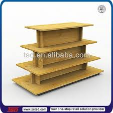 TSD W1009 Custom Garment Cloth Retail Display Rack Wooden Table Wholesale