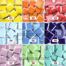diy colorful mosaic tiles 200pieces wall craft aquarium decoration