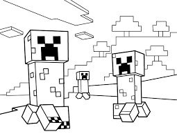 More Images Of Free Minecraft Coloring Pages