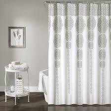 Stripe Medallion Shower Curtain Lush Decor