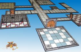 Making 3d Dungeon Tiles by Papercraft Build U2013 Inked Adventures Dungeon Cut Up Basic Sirrob01