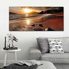 sunset picture sepia landscape canvas