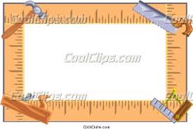 Carpentry Tools Border Clipart 1