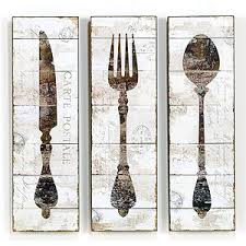 Wood Fork And Spoon Wall Hanging by Natalie Wood Panel Wall Art At Cost Plus World Market Artistic
